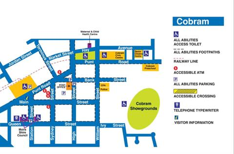 Cobram - All abilities map